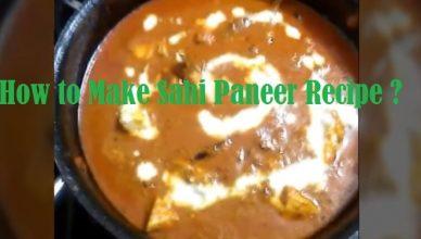 How to Make Sahi Paneer Recipe ?
