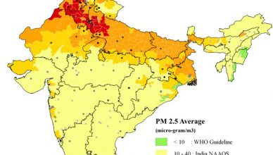 indian air pollution map graph
